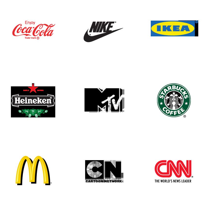 Категория фирменный стиль, товарный знак магазинов, ресторанов, клубов
