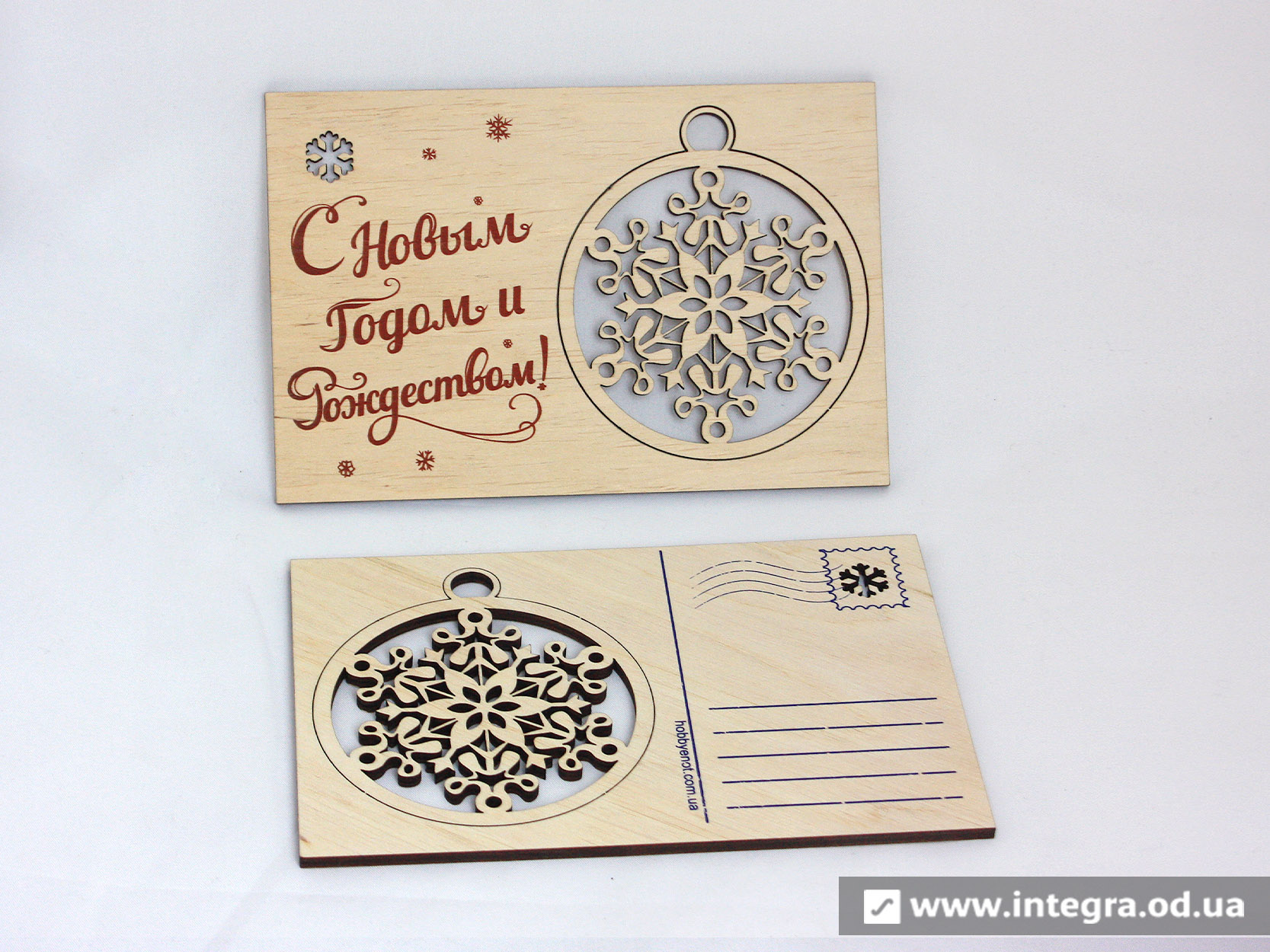 Новогодние открытки из фанеры 33